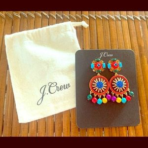 Brand New J.Crew Colorful Statement Drop Earrings